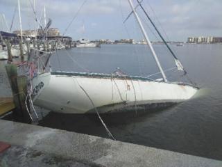 irma damaged boat in clearwater fl
