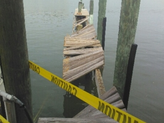 clearwater pier damage from hurricane